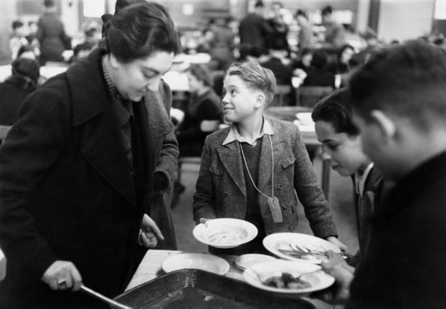 Lunchtime at Dovercourt Bay Holiday Camp near Harwich in Essex, December