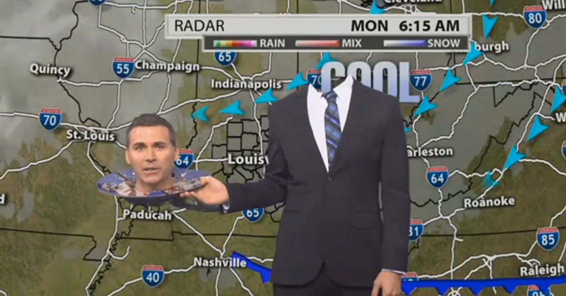 this meteorologist has a whirlwind of creepy halloween costumes huffpost - Meteorologist Halloween Costume