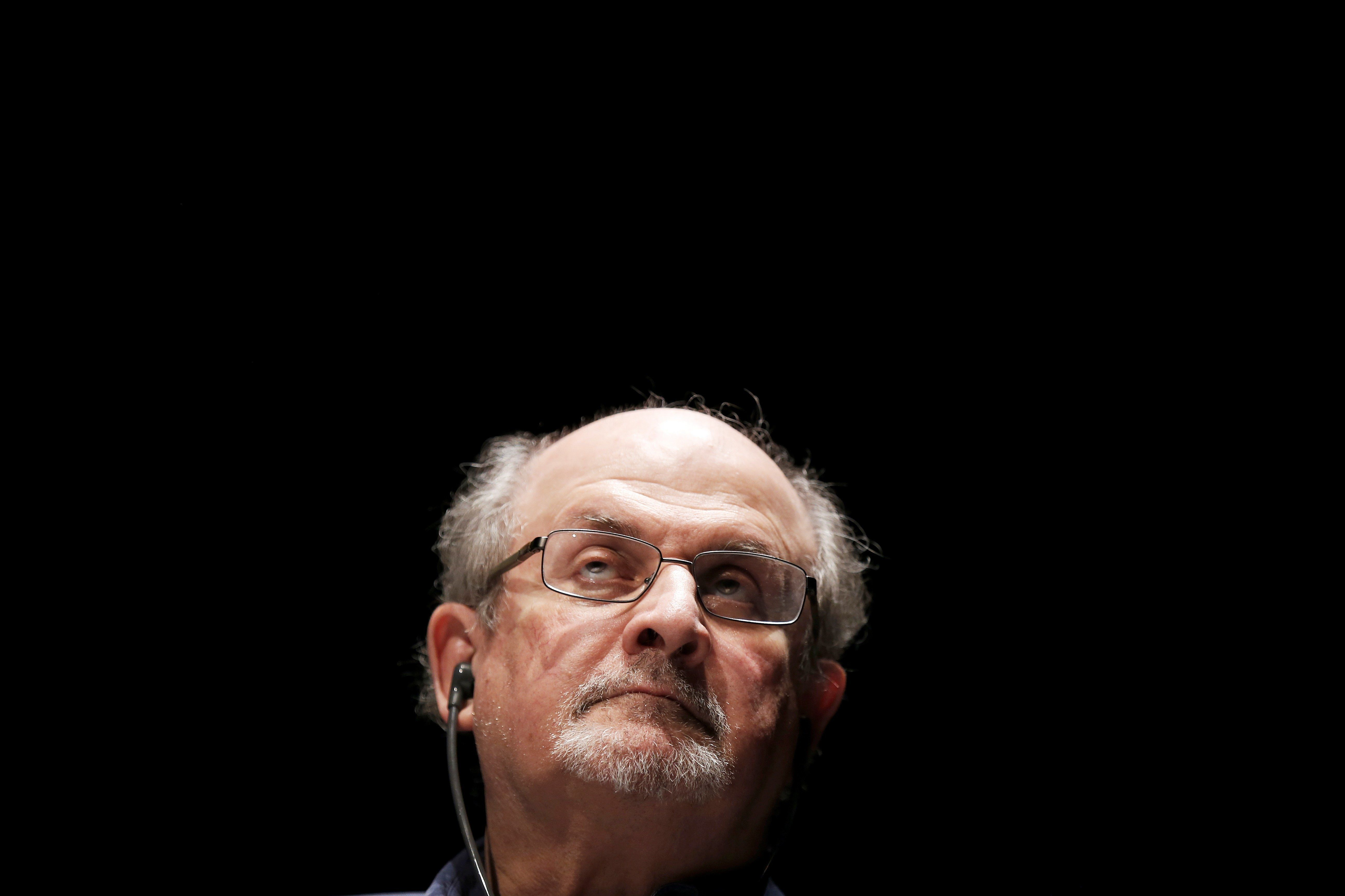 British Indian writer Salman Rushdie attends the opening day of the Positive Economy Forum in Le Havre, northwestern France on September 13, 2016.  / AFP / CHARLY TRIBALLEAU        (Photo credit should read CHARLY TRIBALLEAU/AFP/Getty Images)