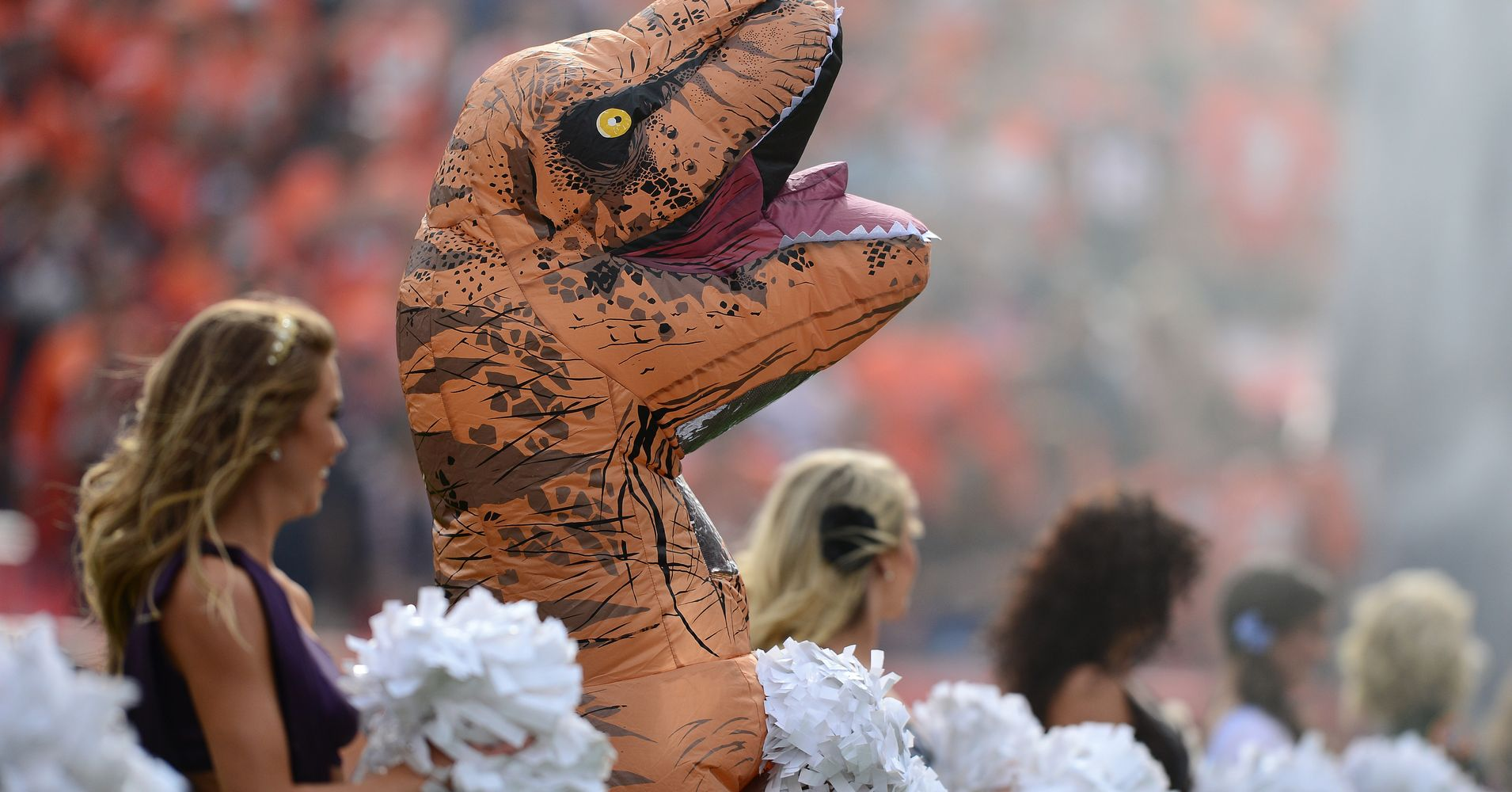 This Dinosaur Cheerleader Is The Real Winner Of Bronco