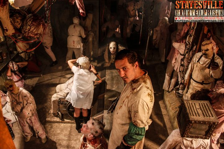 An image from the Statesville Haunted Prison in Lockport, Illinois.