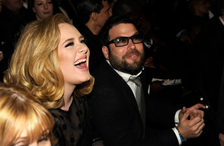 Adele and Simon Konecki attend The 54th Annual Grammy Awardson Feb. 12, 2012 in Los Angeles, CA.