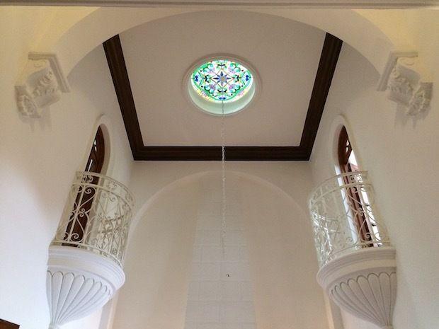Historic architecture at Condesa Haus in Mexico City.