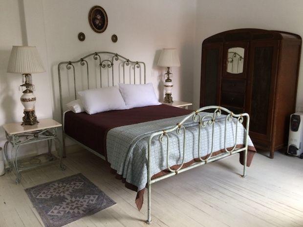 Antique furnishings in the Porfirio Suite at Condesa Haus hotel in Mexico City.