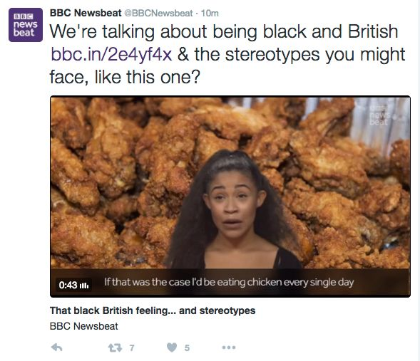 BBC's Newsbeat Asked If Black People Like Fried Chicken In 'Unbelievably Racist'