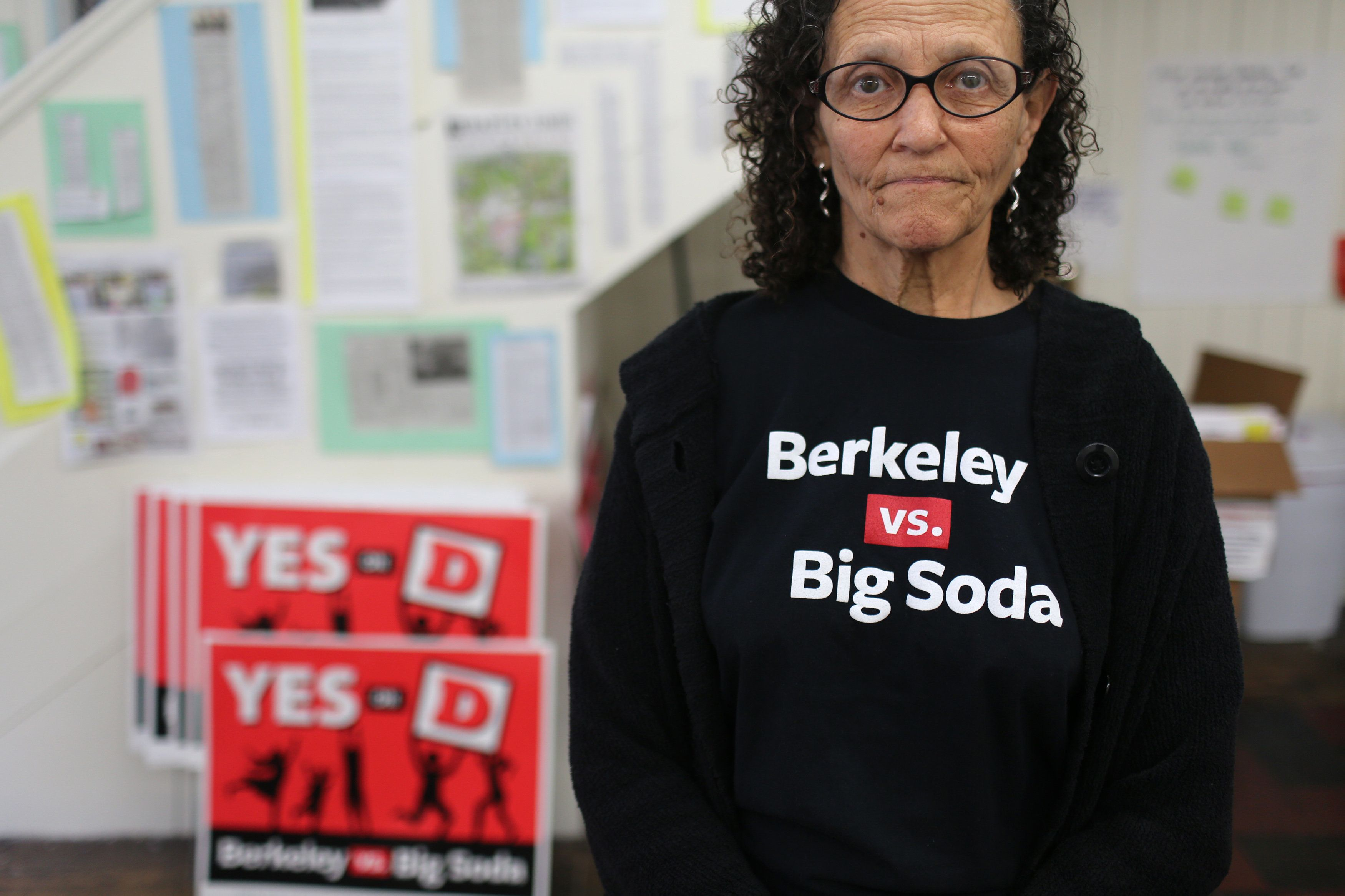 """Dr. Vicki Alexander, co-chairman of the """"Yes on D"""" campaign, poses for a portrait in Berkeley, Californiain 2014."""