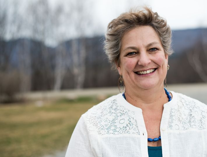 Mari Cordes, 57, a registered nurse and a candidate for the Vermont House of Representatives for the Addison-4 district, was