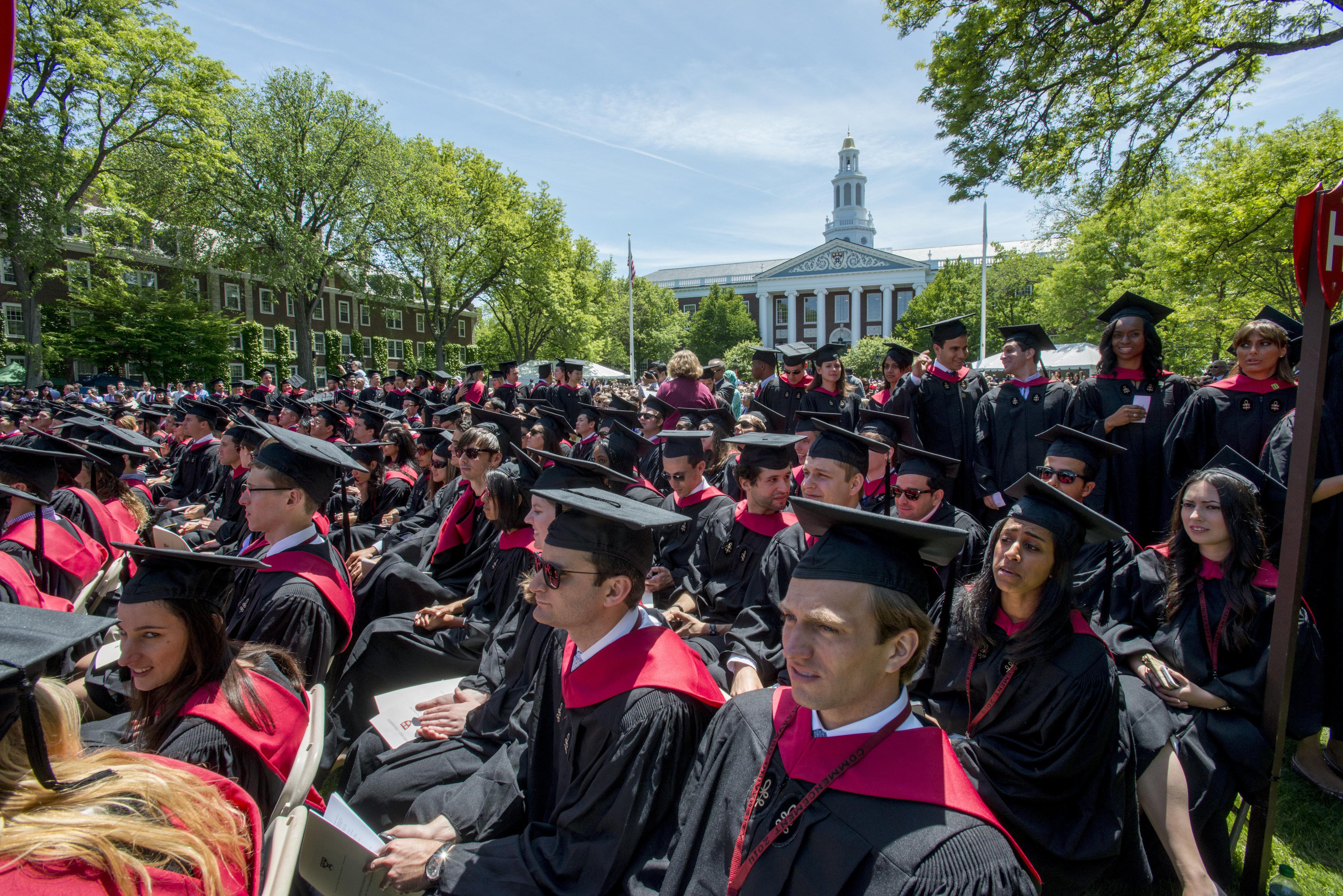 Harvard Business School commencement ceremonies on May 29, 2014.