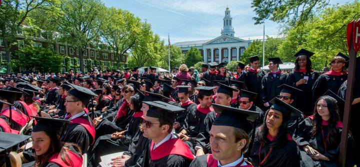 Harvard Business School commencement ceremonies on May 29, 2014.