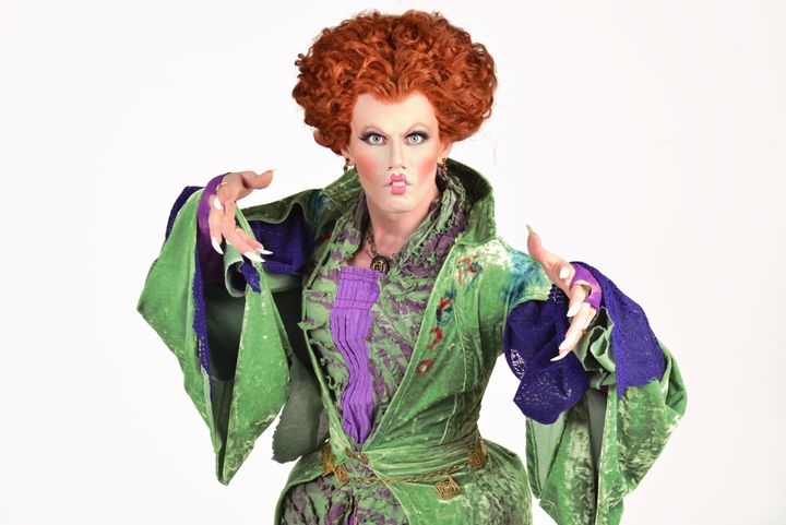 "Johnson performed his Oct. 30 concert dressed as Winnifred Sanderson from ""Hocus Pocus."""