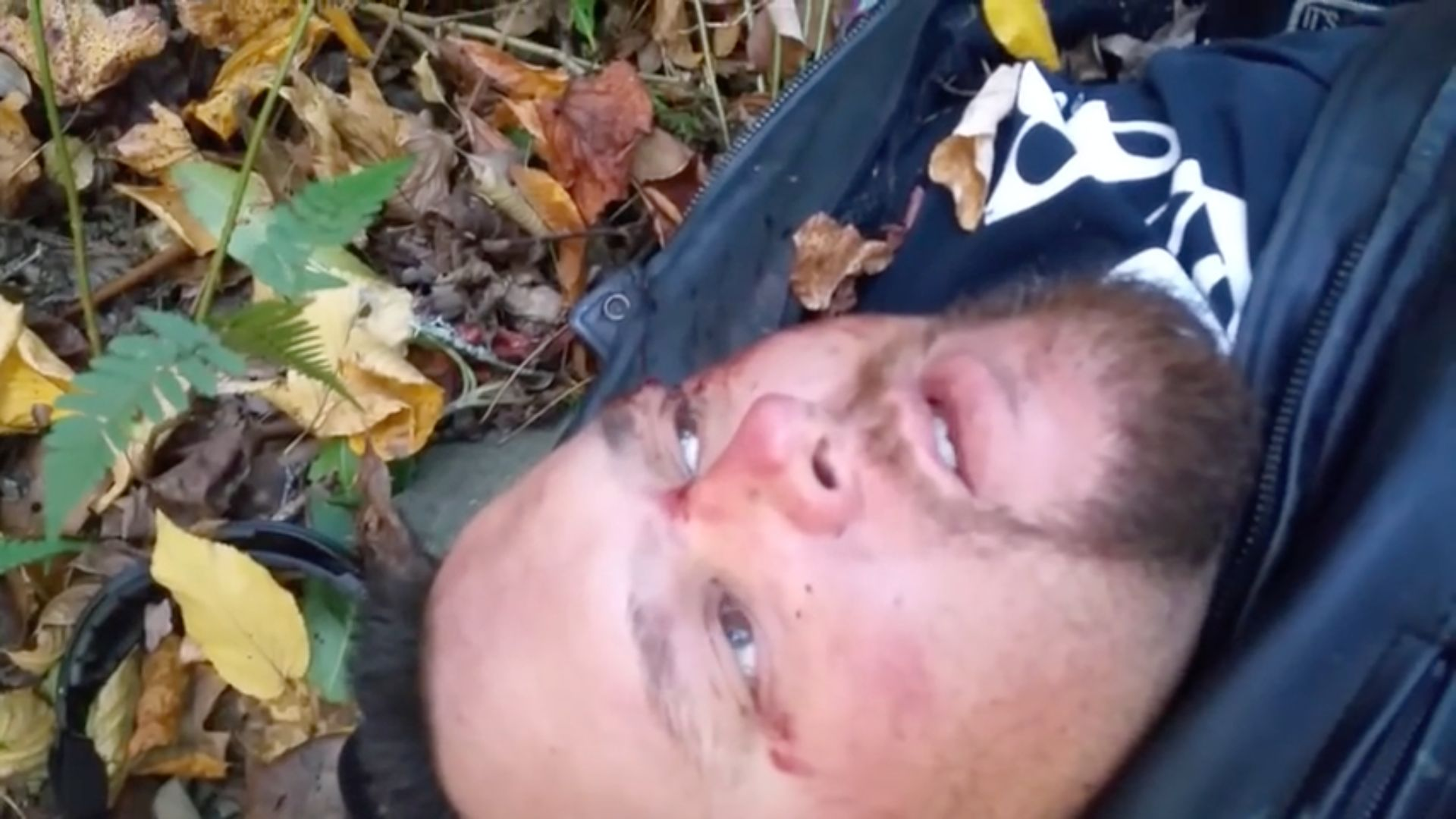 Video released by Kevin Diepenbrock shows the injured motorcyclist delivering what he thought would be his final goodbyes to