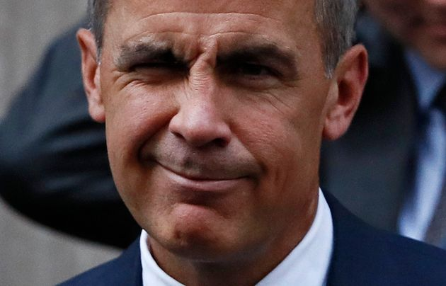 Bank of England governor Mark Carney leaves Number 10 Downing Street before announcing he is staying...