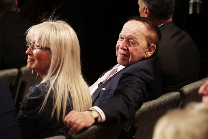 Casino billionaire Sheldon Adelson and his wife Miriam are thesecond largest super PAC donors in 2016.