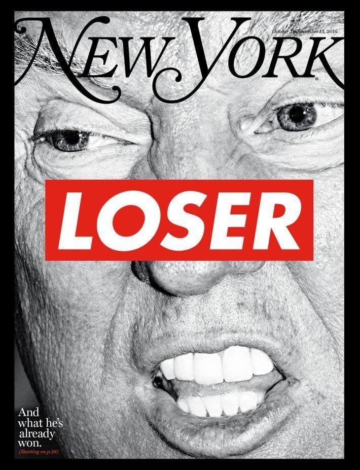 Election Issue cover. Art by Barbara Kruger for <em>New York </em>Magazine.