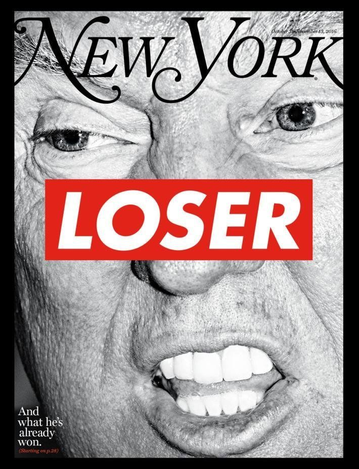 Election Issue cover. Art by Barbara Kruger for <i>New York </i>Magazine.