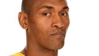 EL SEGUNDO, CA - SEPTEMBER 26:  Metta World Peace #37 of the Los Angeles Lakers poses for a portrait during the 2016-2017 Los Angeles Lakers Media Day at Toyota Sports Center on September 26, 2016 in El Segundo, California.  NOTE TO USER: User expressly acknowledges and agrees that, by downloading and/or using this Photograph, user is consenting to the terms and conditions of the Getty Images License Agreement. Mandatory Copyright Notice: Copyright 2016 NBAE  (Photo by Andrew D. Bernstein/NBAE via Getty Images)