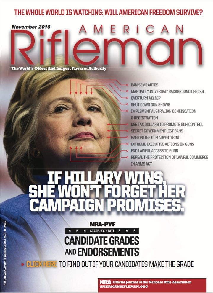 The cover of the November 2016 issue of American Rifleman.