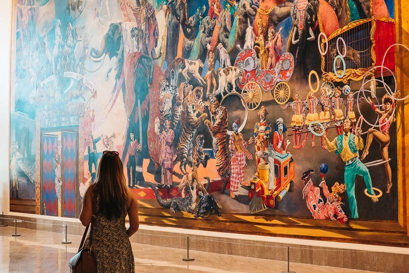 The huge mural inside Ringling Museum of Art in Sarasota