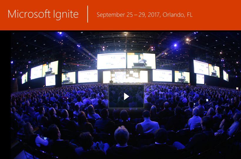 "<a href=""https://ignite.microsoft.com"" target=""_blank"">Microsoft Ignite</a>"