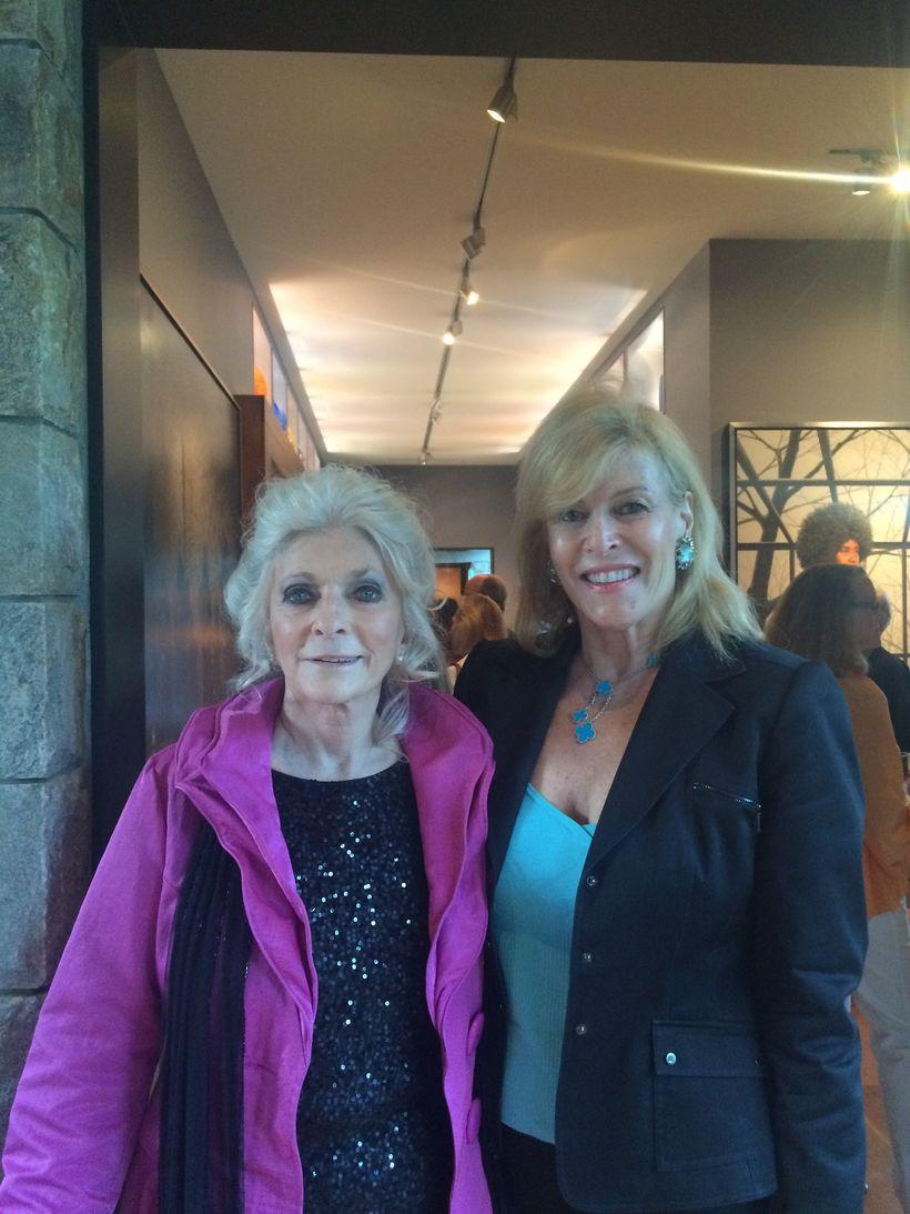 Judy Collins, Singer (L), Sue Phillips (R)