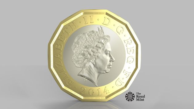 The new 12-sided pound