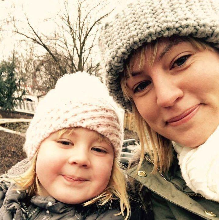 Rosie Dutton and her daughter.