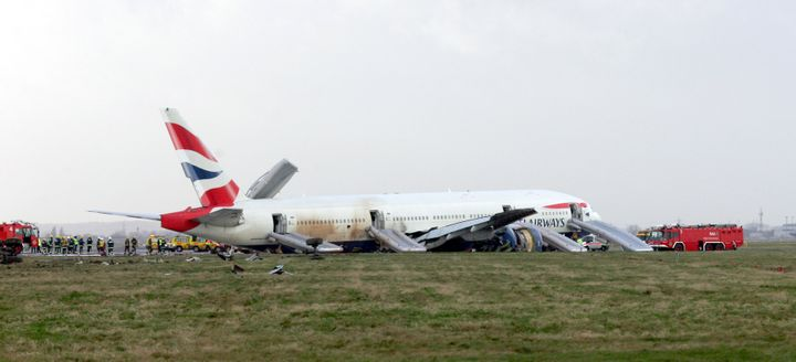 ASI's engineers work on the clean-up operation of a British Airways Boeing 777 that crashed just short of London's Heathrow Airport in 2008.