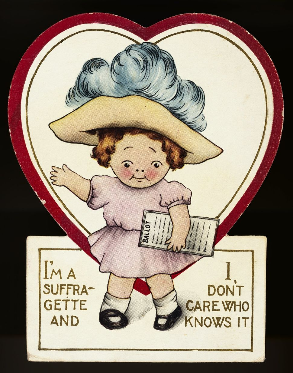 A suffragette postcard in circulation between 1909-1920.