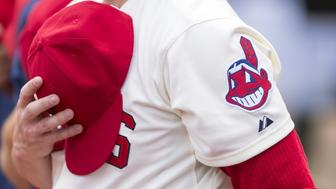 CLEVELAND, OH - JULY 13: Cleveland Indians Chief Wahoo logo worn on one of the players prior to the game against the Chicago White Sox at Progressive Field on July 13, 2014 in Cleveland, Ohio. (Photo by Jason Miller/Getty Images)