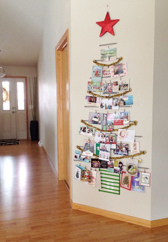 11 brilliant ways to decorate your home with holiday cards