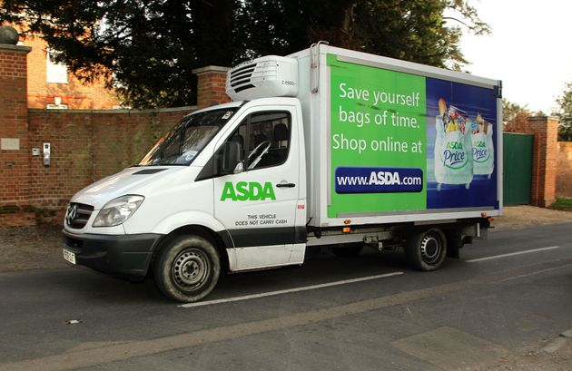 Crates used for Asda's home delivery service were found to be