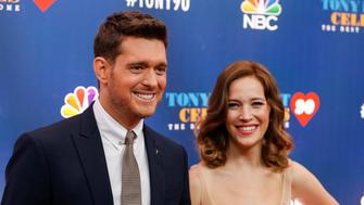 "Singer Michael Buble (L) and Luisana Lopilato walk on the red carpet for ""Tony Bennett Celebrates 90: The Best Is Yet to Come"" at the legendary Radio City Music Hall in New York, U.S., September 15, 2016. REUTERS/Eduardo Munoz"
