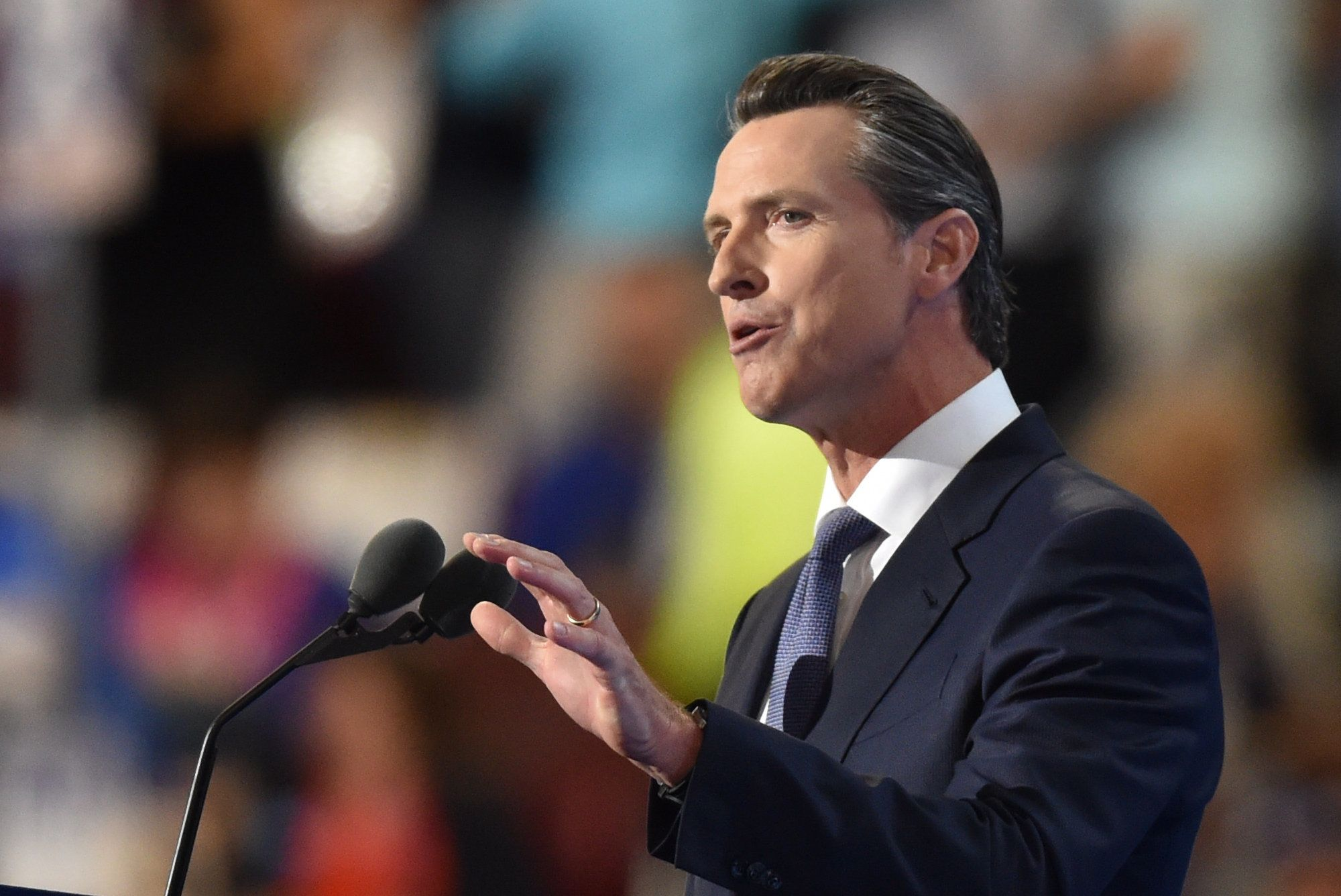 California Lt. Gov. Gavin Newsom (D) proposed the ballot measure implementing new restrictions on guns and ammunition.