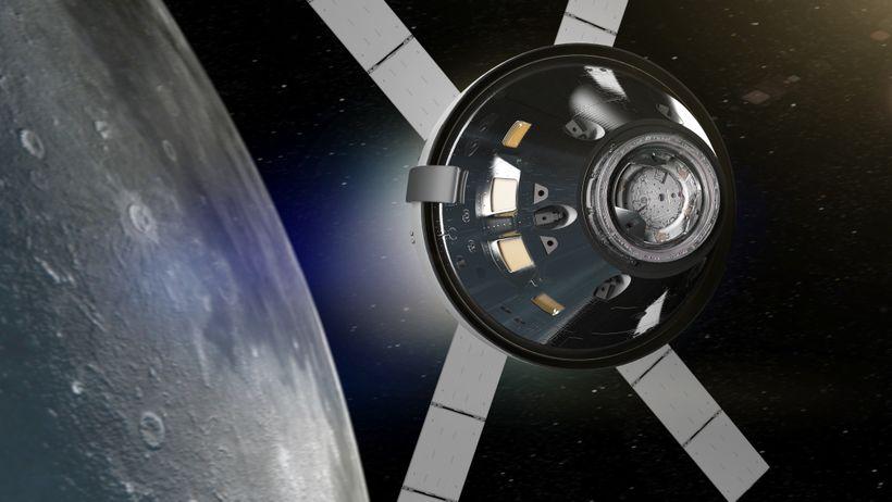 NASA's Orion spacecraft in lunar orbit.
