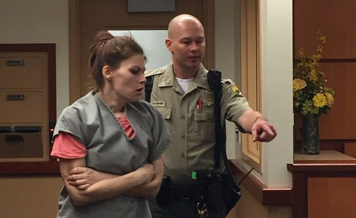 """Ashley Hutt, 24, and her boyfriend,Leeroy """"Mac"""" McIver, 25, face multiple chargesafter authorities fo"""