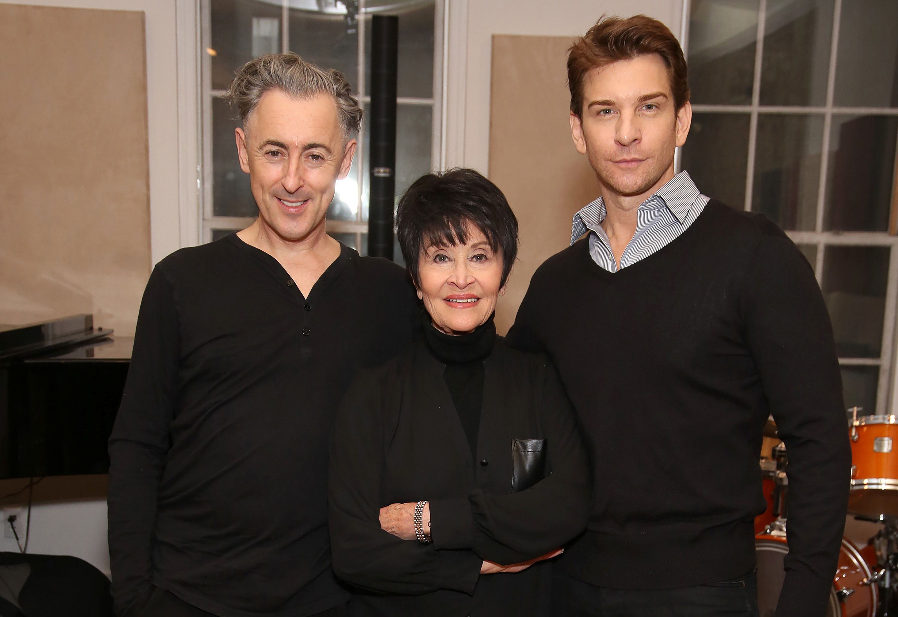 NEW YORK, NY - OCTOBER 27:  Alan Cumming, Chita Rivera and Andy Karl in Rehearsal for 'Chita: Nowadays'  at Michiko Studio on October 27, 2016 in New York City.  (Photo by Walter McBride/WireImage)