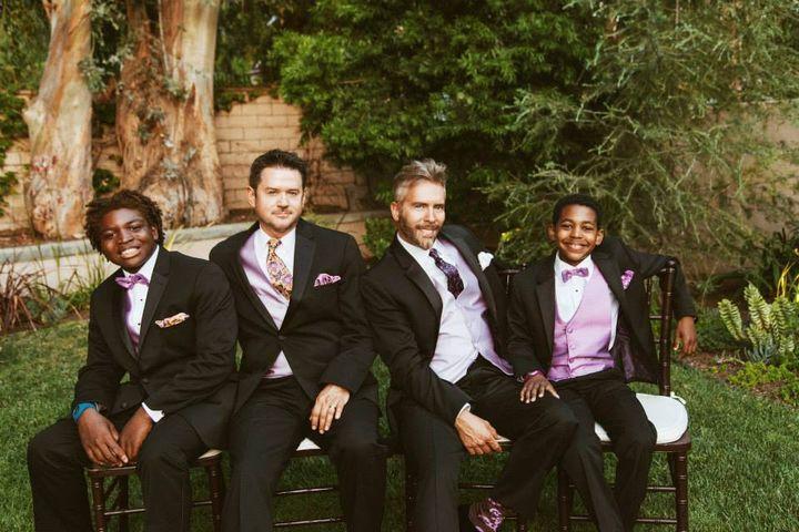 "Mason, Kergan, Russ, and Marcus. Wedding Day, June 7, 2014. <a href=""http://http//www.saraplusryan.com/"" target=""_blank"">Sara"