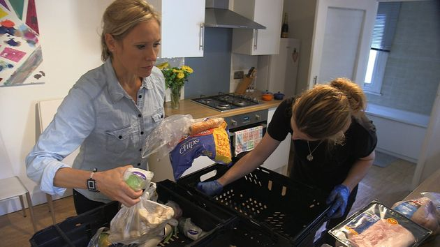 Sophie Raworth helped test delivery crates for