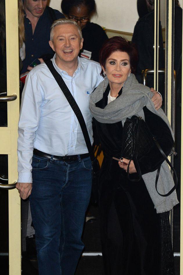 Louis Walsh and Sharon