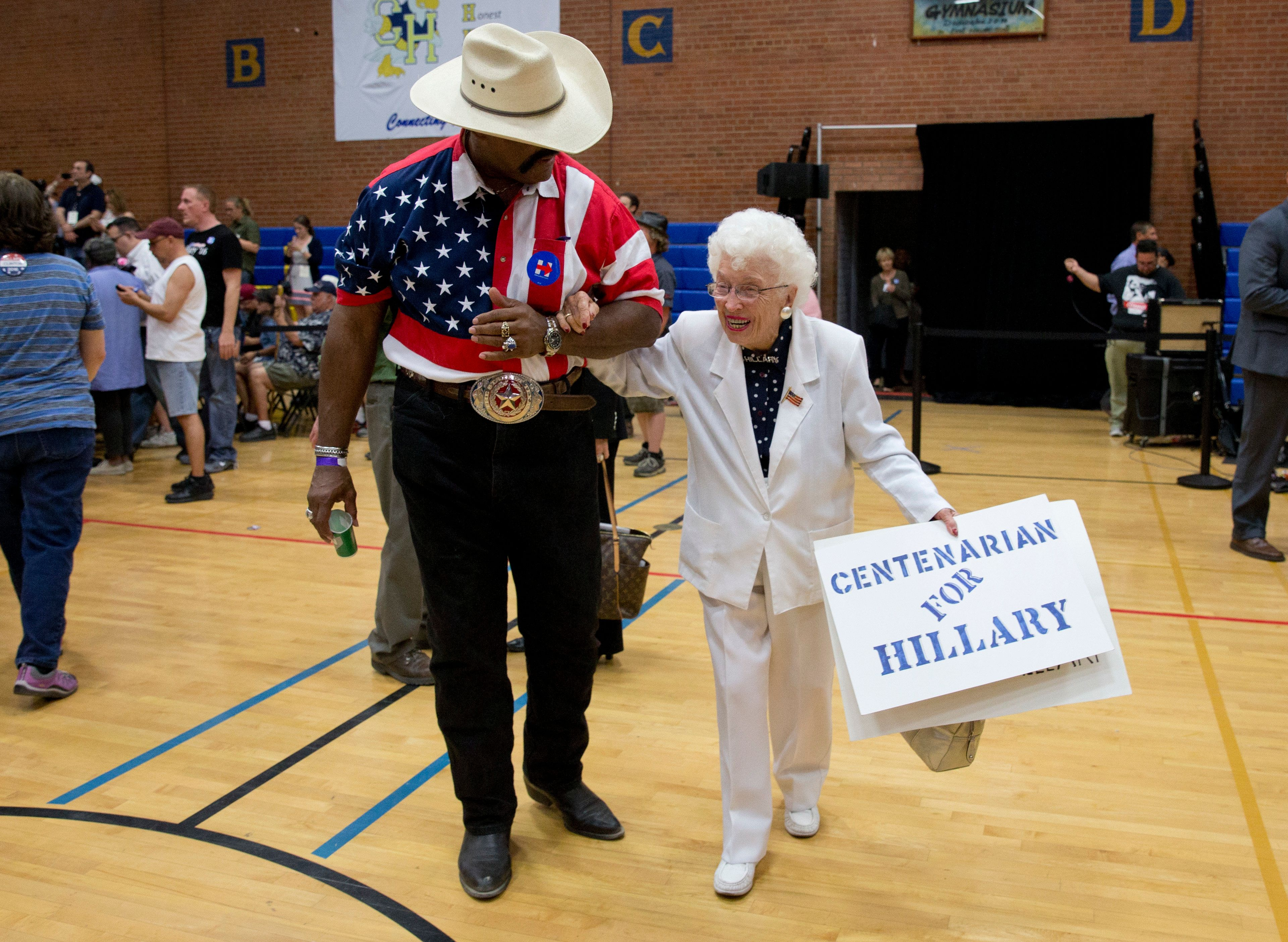 Jerry Emmett, seen at a Hillary Clinton campaign event in Phoenix, Arizona, back in March, cast her ballot on Tuesday for the