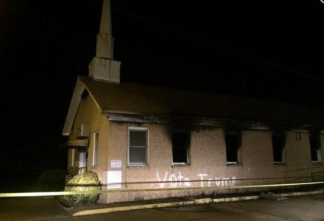 The Hopewell Missionary Baptist Church in Greenville, Mississippi, was burned and vandalized Tuesday night.