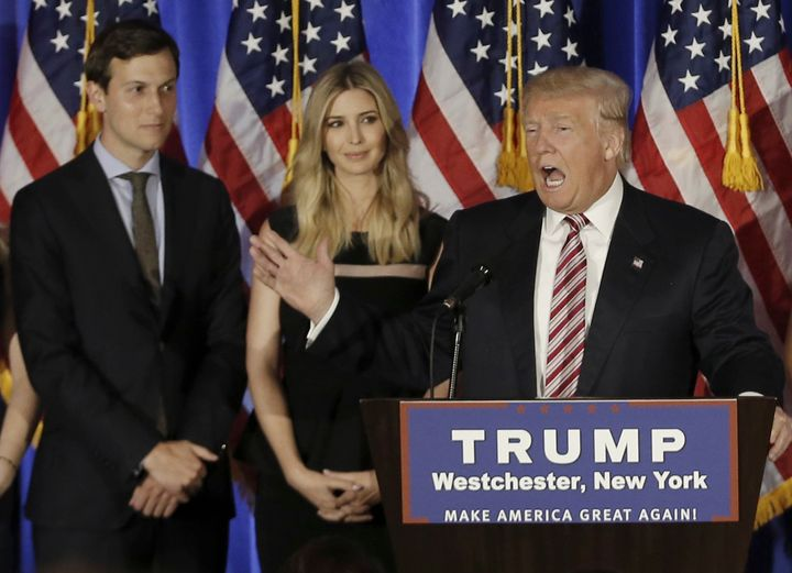 The New York Observer, owned by Donald Trump's son-in-law Jared Kushner (left), was one of the few publications to endorse Tr