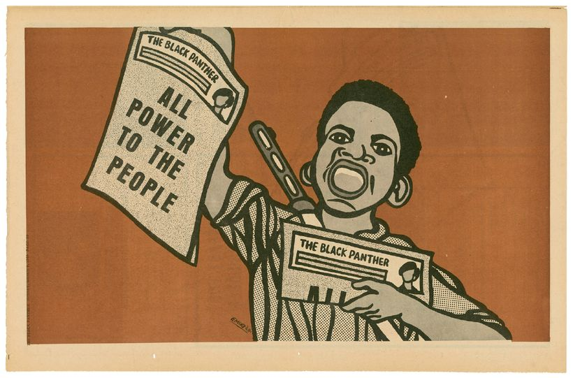 The Black Panther Party Newspaper Courtesy of Stuart A. Rose Manuscript, Archives, and Rare Book Library at Emory Universi