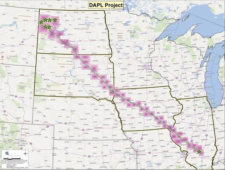 A NoDAPL Map HuffPost - Us pipeline 1950 map