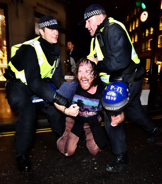 Police grappled with protesters during scuffles at last year's Million Mask