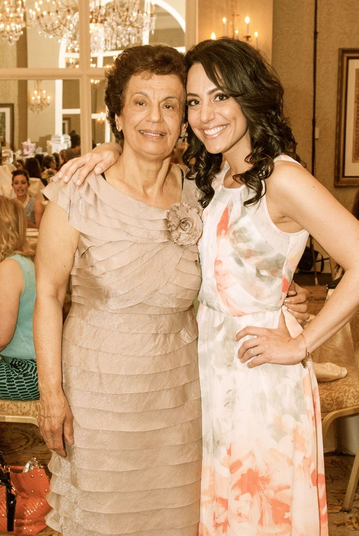 <p>My mother and I at my bridal shower.</p>