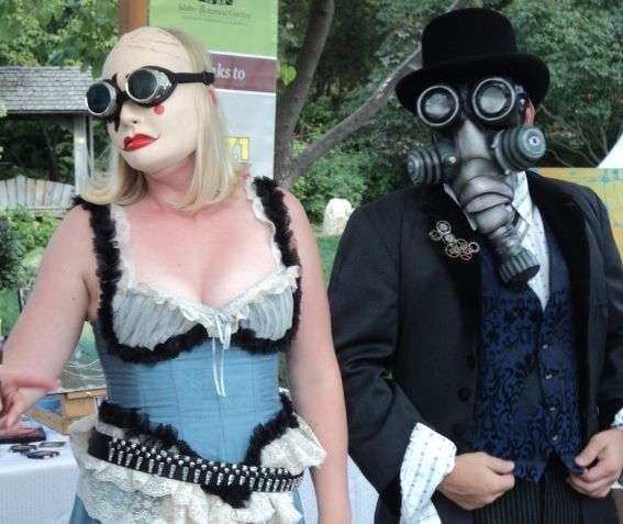 A steampunk couple
