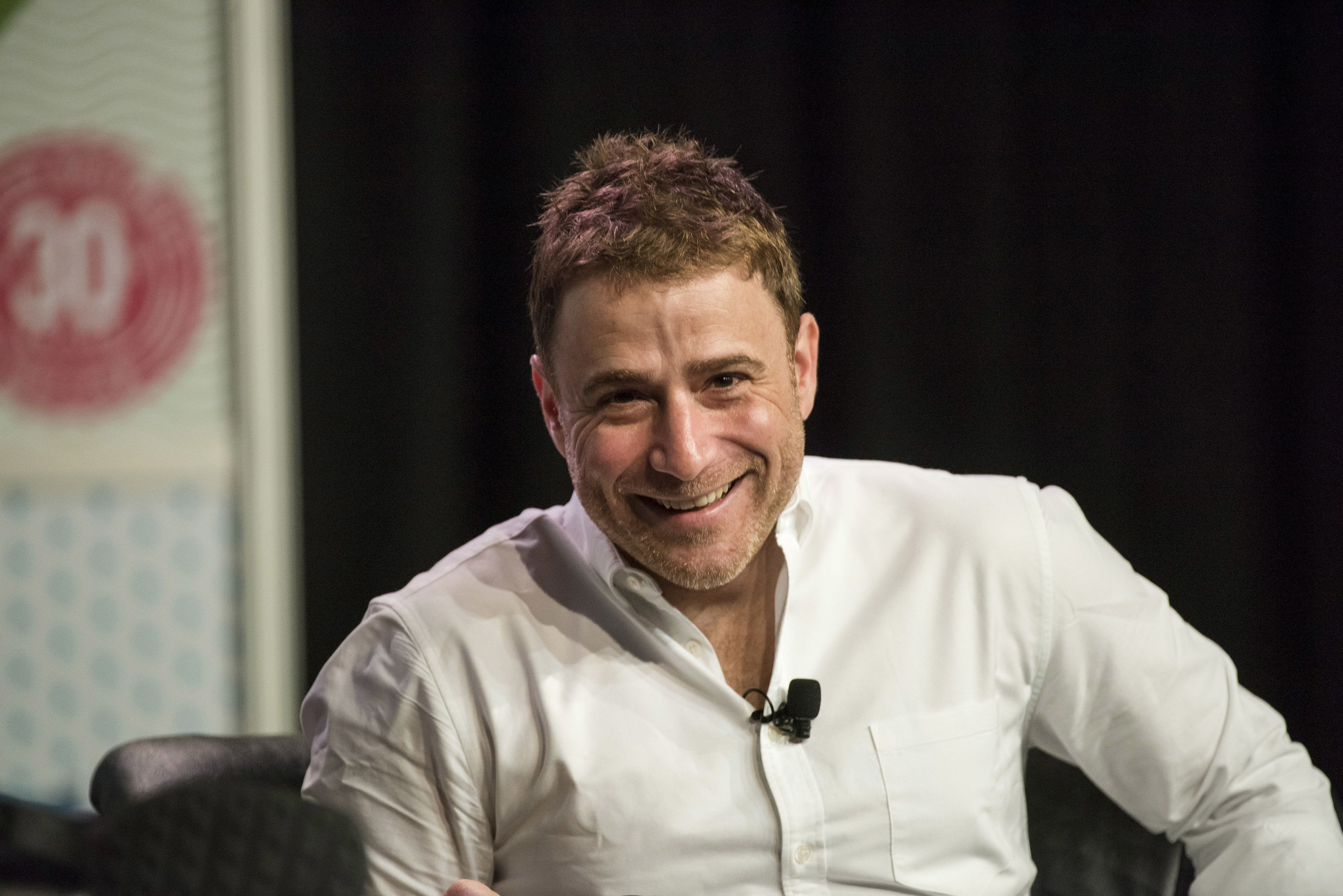 Stewart Butterfield, co-founder and chief executive officer of Slack Technologies Inc., smiles during the South By Southwest (SXSW) Interactive Festival at the Austin Convention Center in Austin, Texas, U.S., on Tuesday, March 15, 2016. The SXSW Interactive Festival features presentations and panels from the brightest minds in emerging technology, scores of networking events hosted by industry leaders and a lineup of special programs showcasing new websites, video games, and startup ideas. Photographer: David Paul Morris/Bloomberg via Getty Images