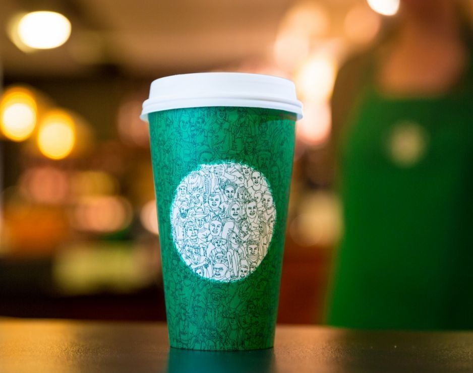 Starbucks' limited editiongreen cup.