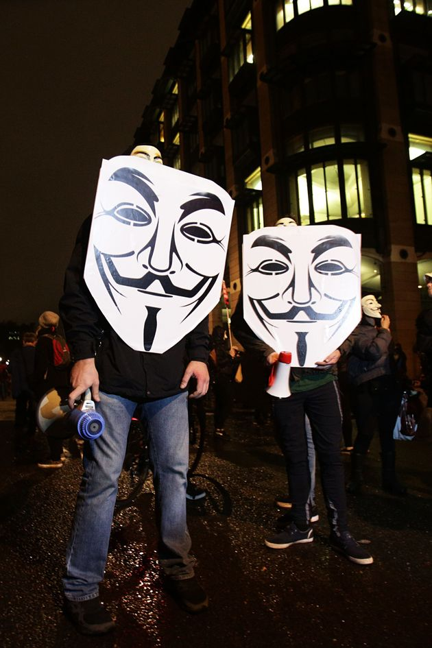 Protesters at last year's Million Mask